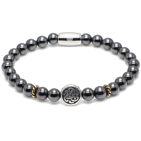 Exclusive King's Celtic and Hematite Beaded Bracelet