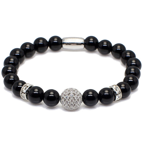 Exclusive King's Onyx and CZ Disco Ball Bracelet