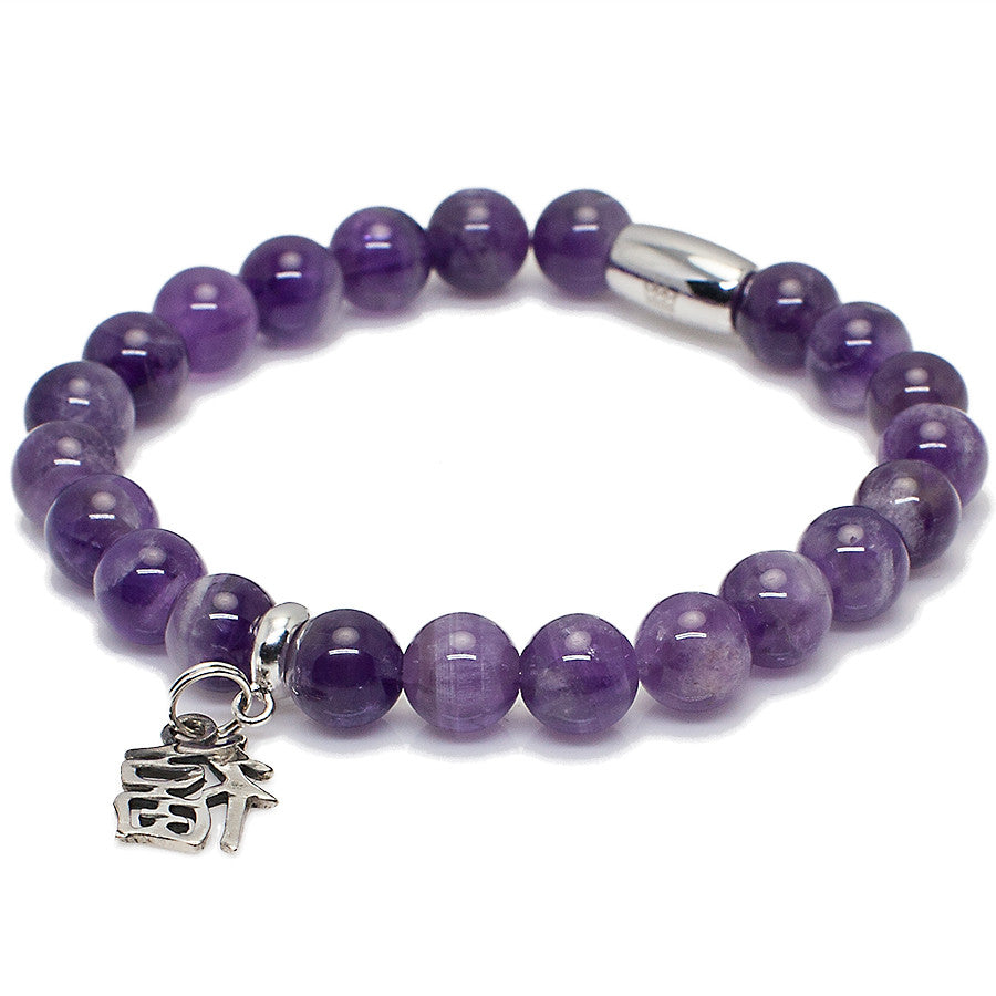 Women's Amethyst With Sterling Silver Luck & Fortune Charm