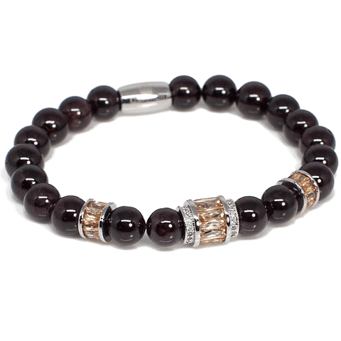 Exclusive King's Smoked Topaz and Garnet Bracelet