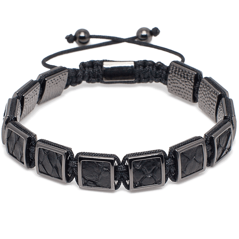 Genuine Luxury Python Leather Square Bracelet