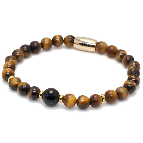 Exclusive King's Tiger's Eye and Onyx Bracelet
