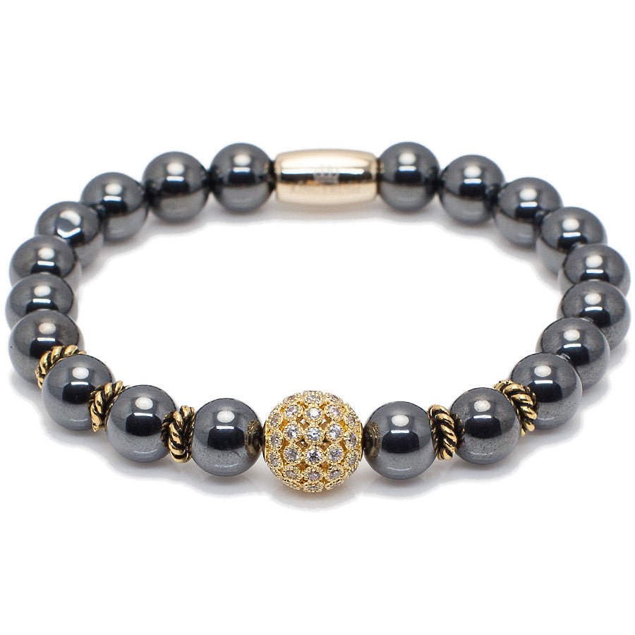 Exclusive King's Golden Disco and Hematite Bracelet