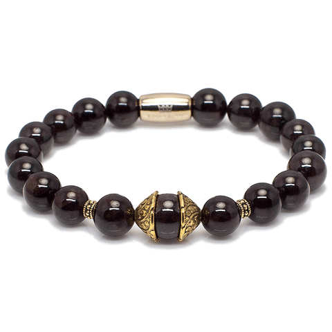 Exclusive King's Antique Cap Garnet Bracelet