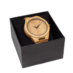 Light Brown Wooden Timepiece