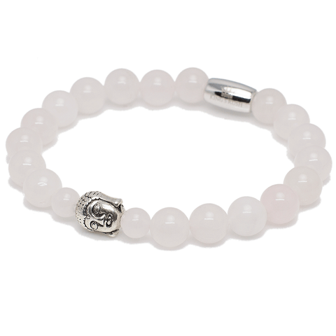 Exclusive King's Pink Quartz Buddha Bracelet