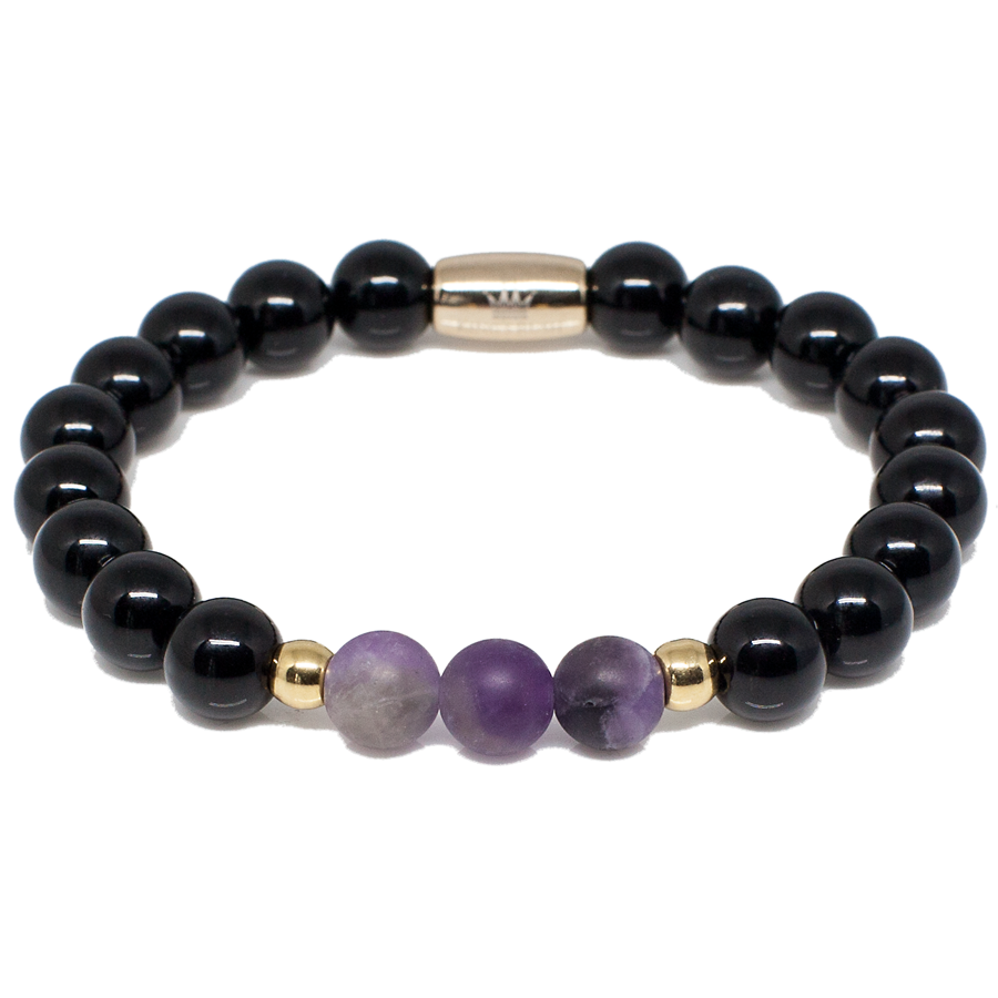 Exclusive King's Black Onyx and Amethyst