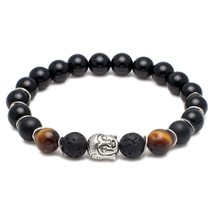 Exclusive King's Buddha Head Medley Bracelet-King's Rush-King's Rush