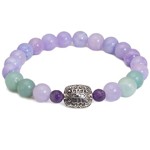 Addie - Lavender Jade and Amethyst Women's Bracelet