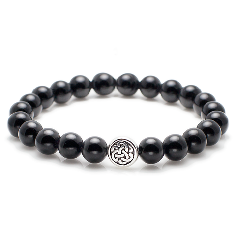 Exclusive King's Celtic + Polished Black Onyx Bracelet-King's Rush-King's Rush