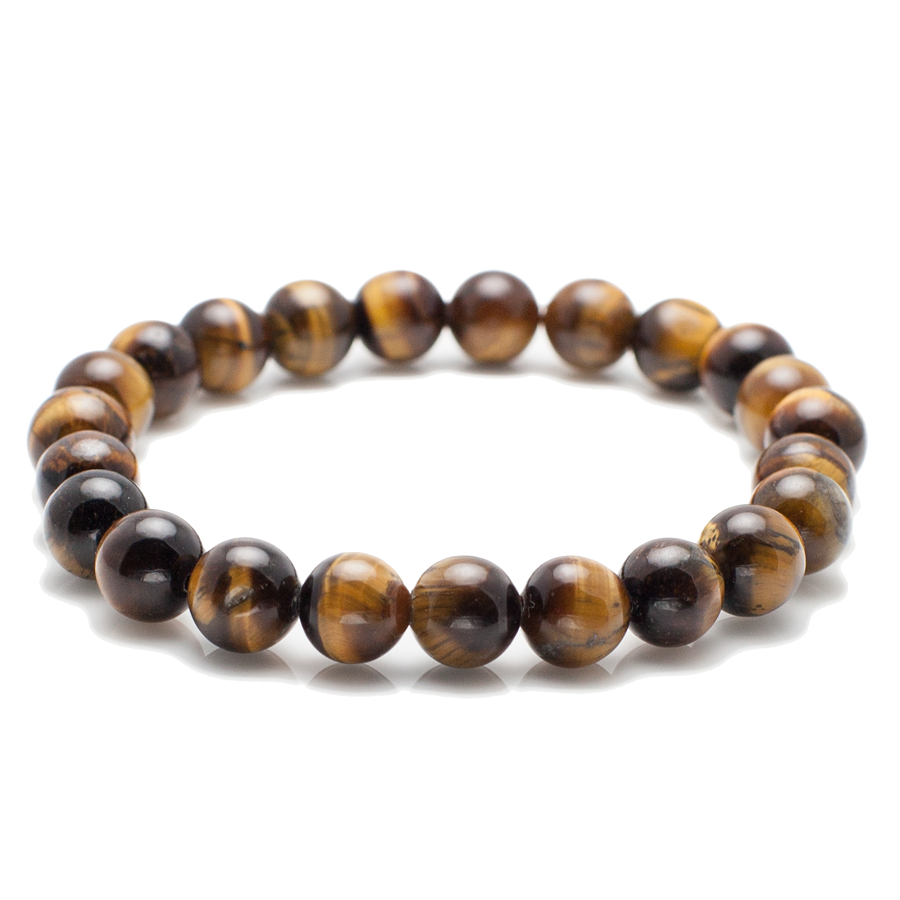 Exclusive King's Simple 8mm Tiger's Eye Bracelet-King's Rush-King's Rush