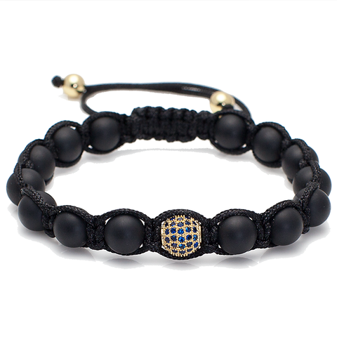 Shamballa Blue CZ Disco Ball Bracelet