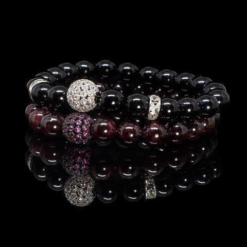 "Exclusive King's Garnet and Onyx ""His & Hers"" Bundle"