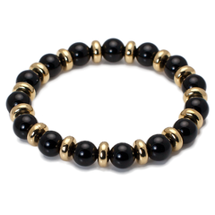 Exclusive King's Gold Plated Beads + Polished Black Onyx-King's Rush-King's Rush