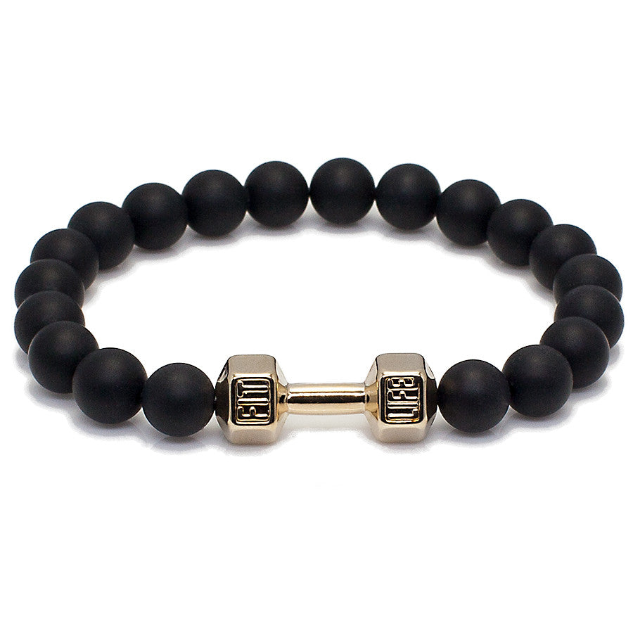 "Agate and Barbell ""Fit"" Bracelet"