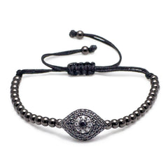 Pumped Evil Eye Macrame Bracelet-King's Rush-King's Rush