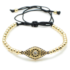 Protective Talisman, The Evil Eye  - Rose Gold, Gold, Black, Silver-King's Rush-King's Rush