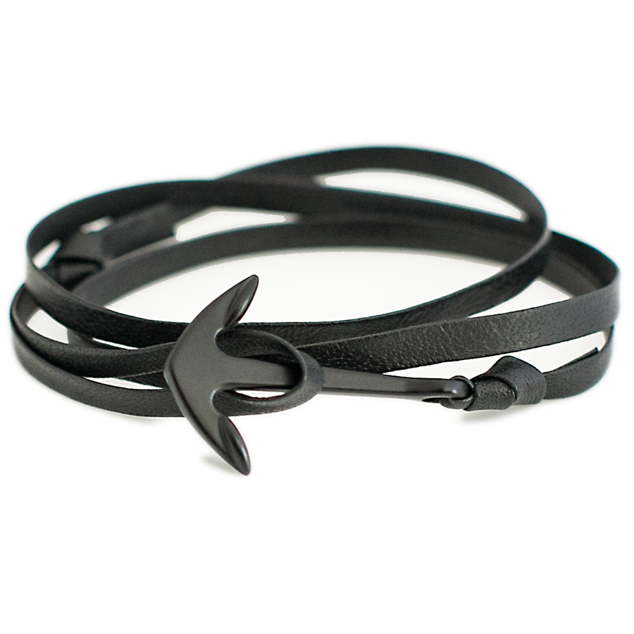 Genuine Leather Anchor Wrap Bracelets-King's Rush-King's Rush