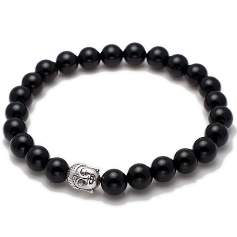 Exclusive King's Buddha Head and Black Onyx Bracelet-King's Rush-King's Rush