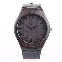 Dark Brown Wooden Timepiece