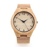 Tan Wooden Timepiece