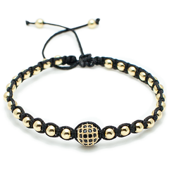 Shamballa Disco Ball Bracelet - Black, White, Gold, Rose Gold-King's Rush-King's Rush