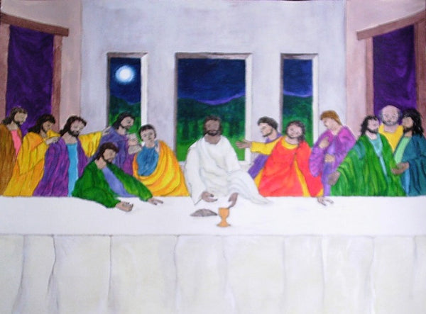 S9B - Last Supper Picture on a Birch Plywood Base with control card