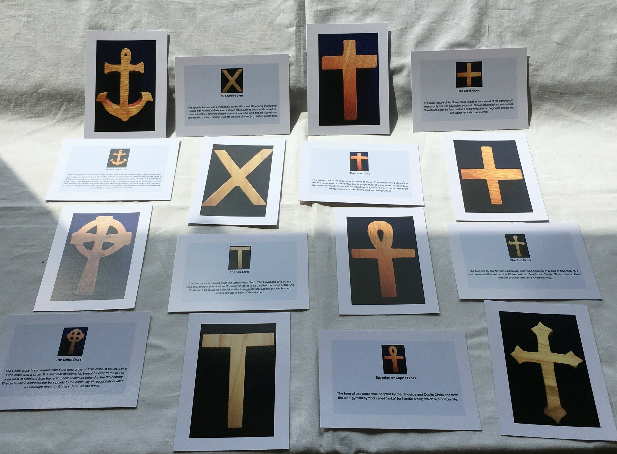 S8B - 16 Laminated Control Cards - The Crosses