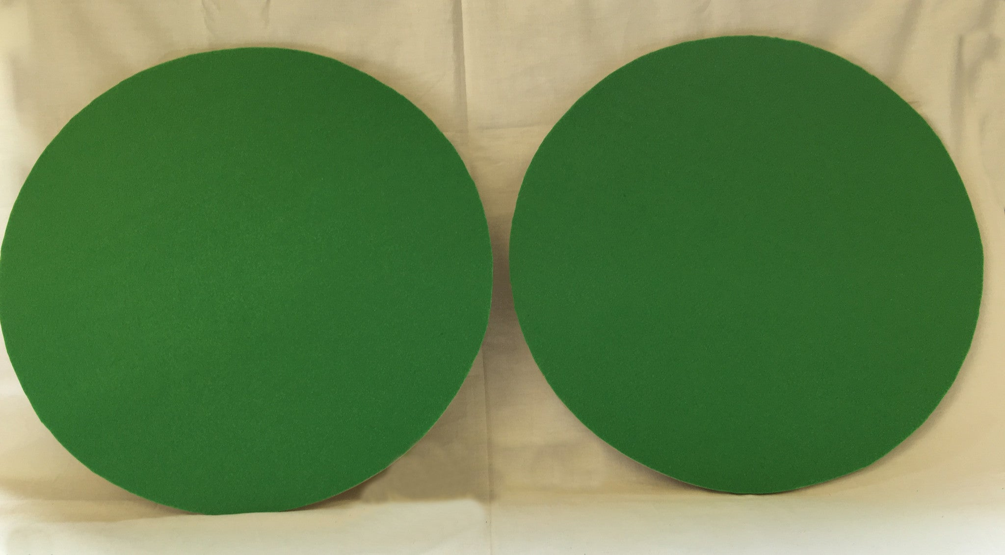 S10C - 2 Plywood Circles with Green Felt Covering