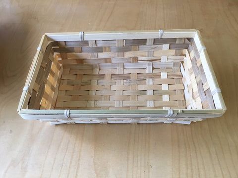 BWT - Brown Bamboo Natural Colour Wicker Resource Tray / Basket