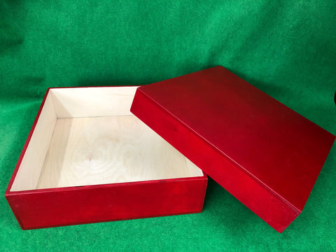 S12B - Red Wooden Box
