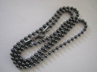 Oxidized Sterling Silver 4mm Ball Chain Necklace