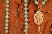 Yoga Necklace with Amazonite Beads