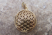 Goldfilled Large Flower of Life Pendant by Shantica Jewelry