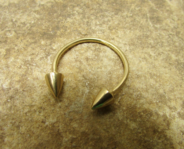 Open Spike Ring in Goldfilled