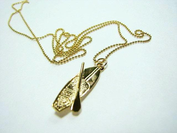 Goldfilled Stand up paddle board pendant and chain