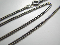 Oxidized Sterling Silver 3mm Curb Chain