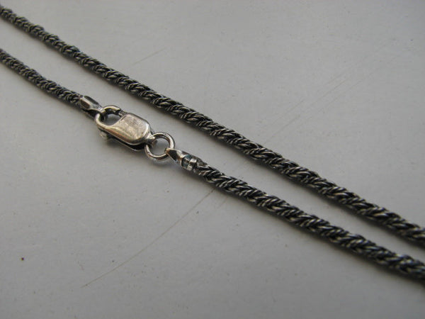 2mm Rope Chain Necklace, Oxidized Sterling Silver