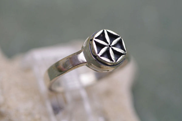 Sterling Silver Flower of Life Ring from Shantica Jewelry