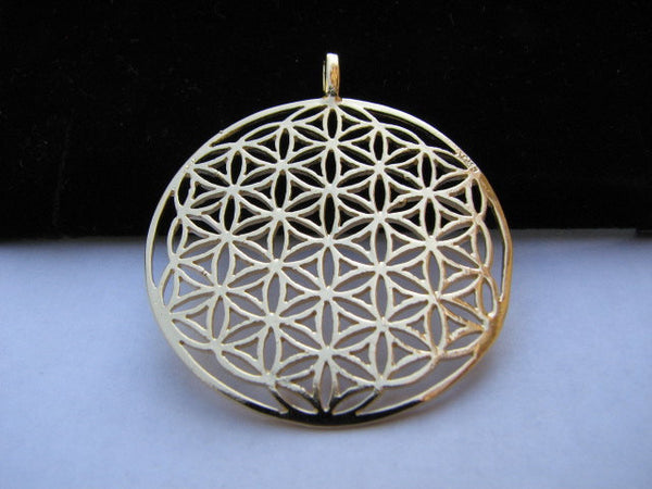 Goldfilled extra large flower of life pendant