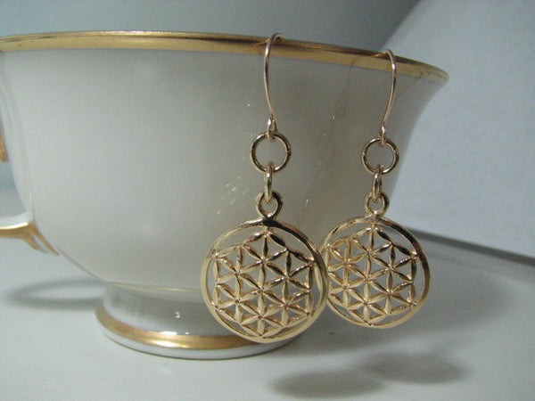 Goldfilled Flower of Life Earrings