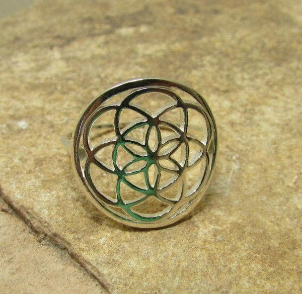 Sterling Silver Seed of Life Ring