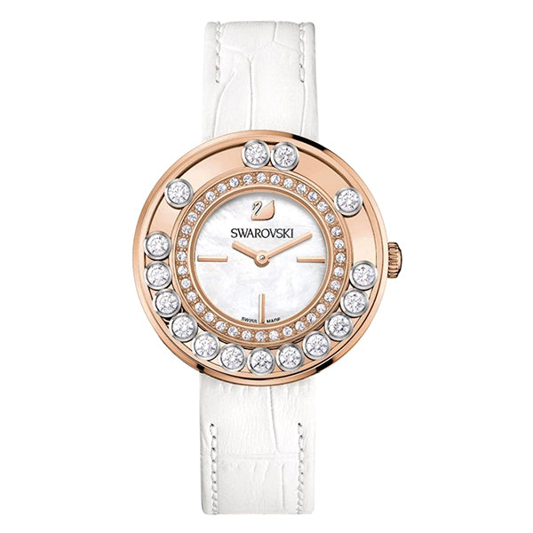 Lovely Crystals Rose Gold Tone Ladies Watch