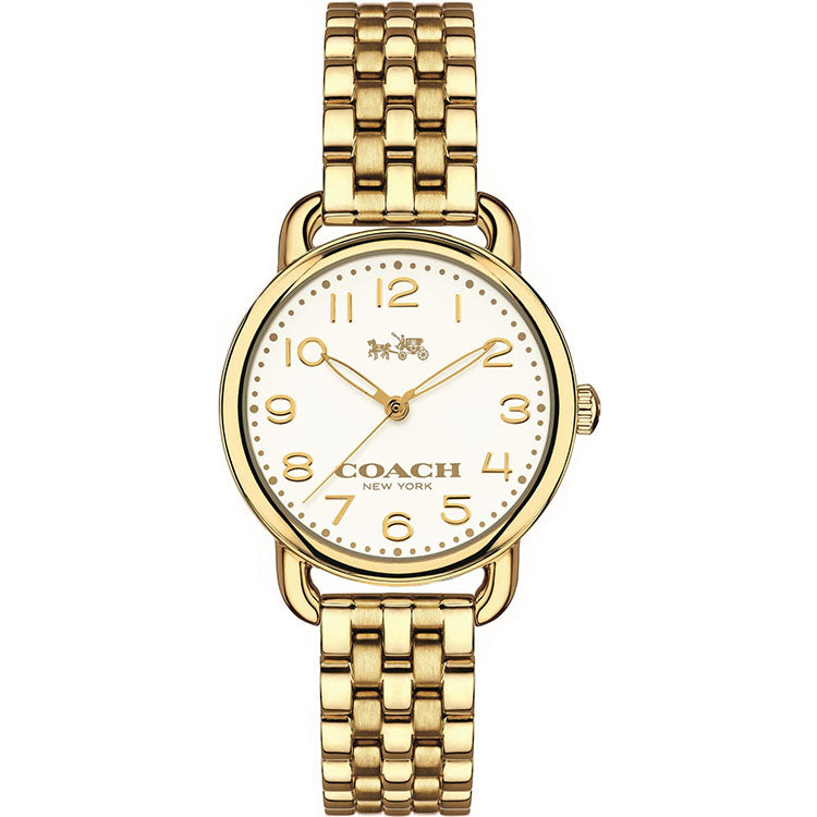 Delancey Gold-Tone White Dial Ladies Watch