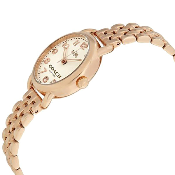 Delancey Cream Dial Ladies Rose Gold Tone Watch