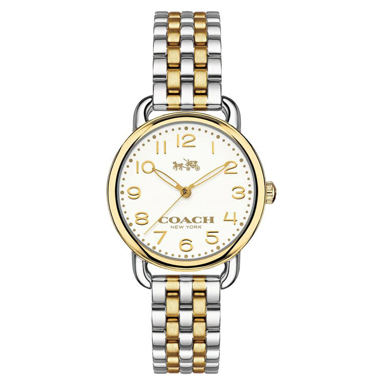Delancy Silver And Gold Tone Bracelet Ladies' Watch