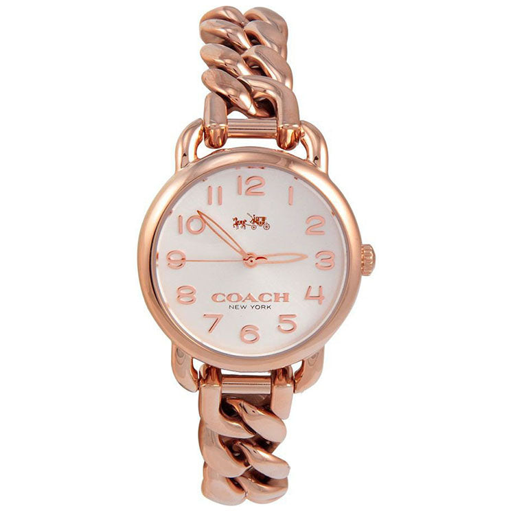 Delancy Rose Gold Tone Link Bracelet Ladies' Watch