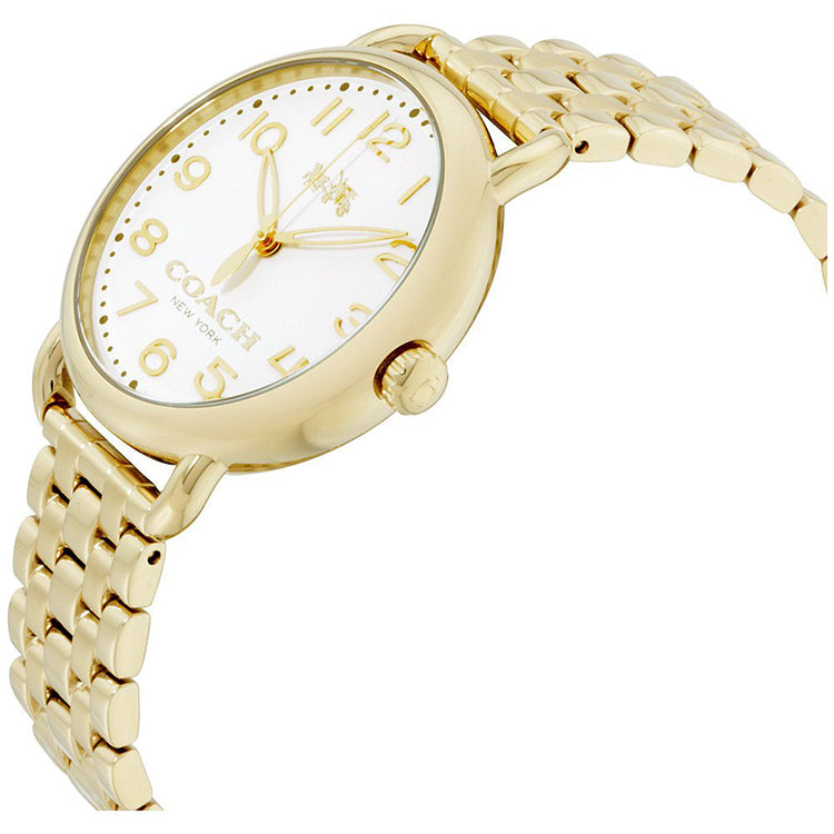 Delancey Gold-Tone Chalk Sunray Dial Ladies Watch