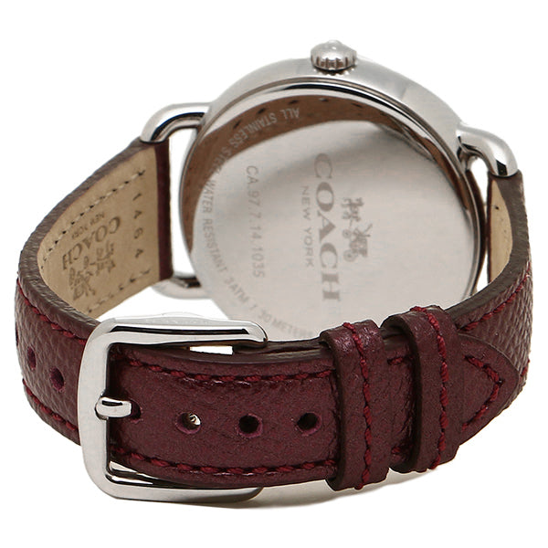 Delancey Burgundy Leather Strap Chalk Sunray Dial Ladies Watch
