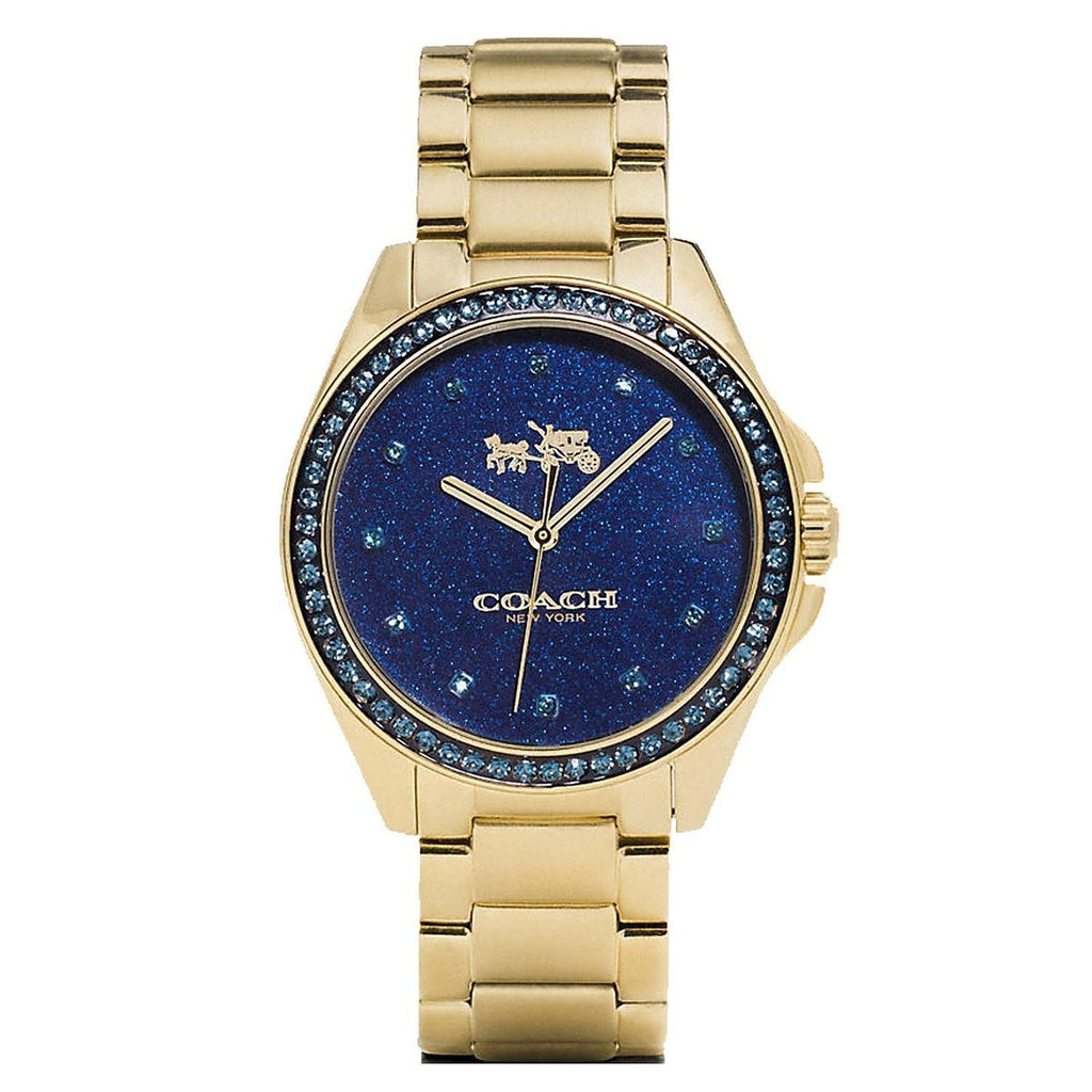 Tristen Gold-Tone Stainless Steel Blue Dial Ladies' Watch